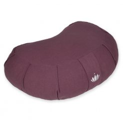 "Zafu Crescent Meditation Cushion ""Siddha"" - Aubergine"