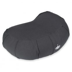 "Zafu Crescent Meditation Cushion ""Siddha"" - Anthracite"