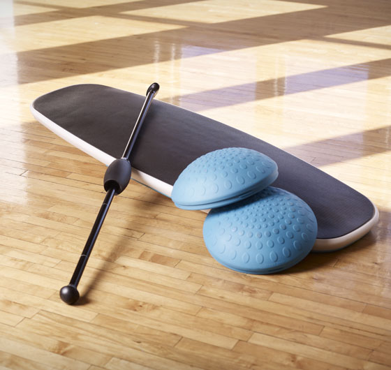 Ocean Yoga Board Paddle Fitness Oar and Balance Pods