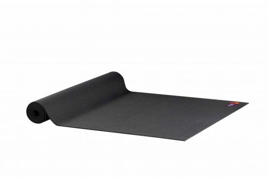 Ako Yin Yang Studio Manduka Quality Eco Yoga Mat Black unrolled