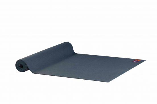 Ako Yin Yang Studio Manduka Quality Eco Yoga Mat Blue unrolled