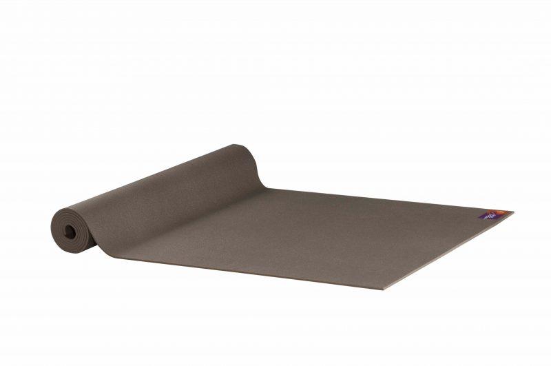 Ako Yin Yang Studio Manduka Quality Eco Yoga Mat Brown unrolled
