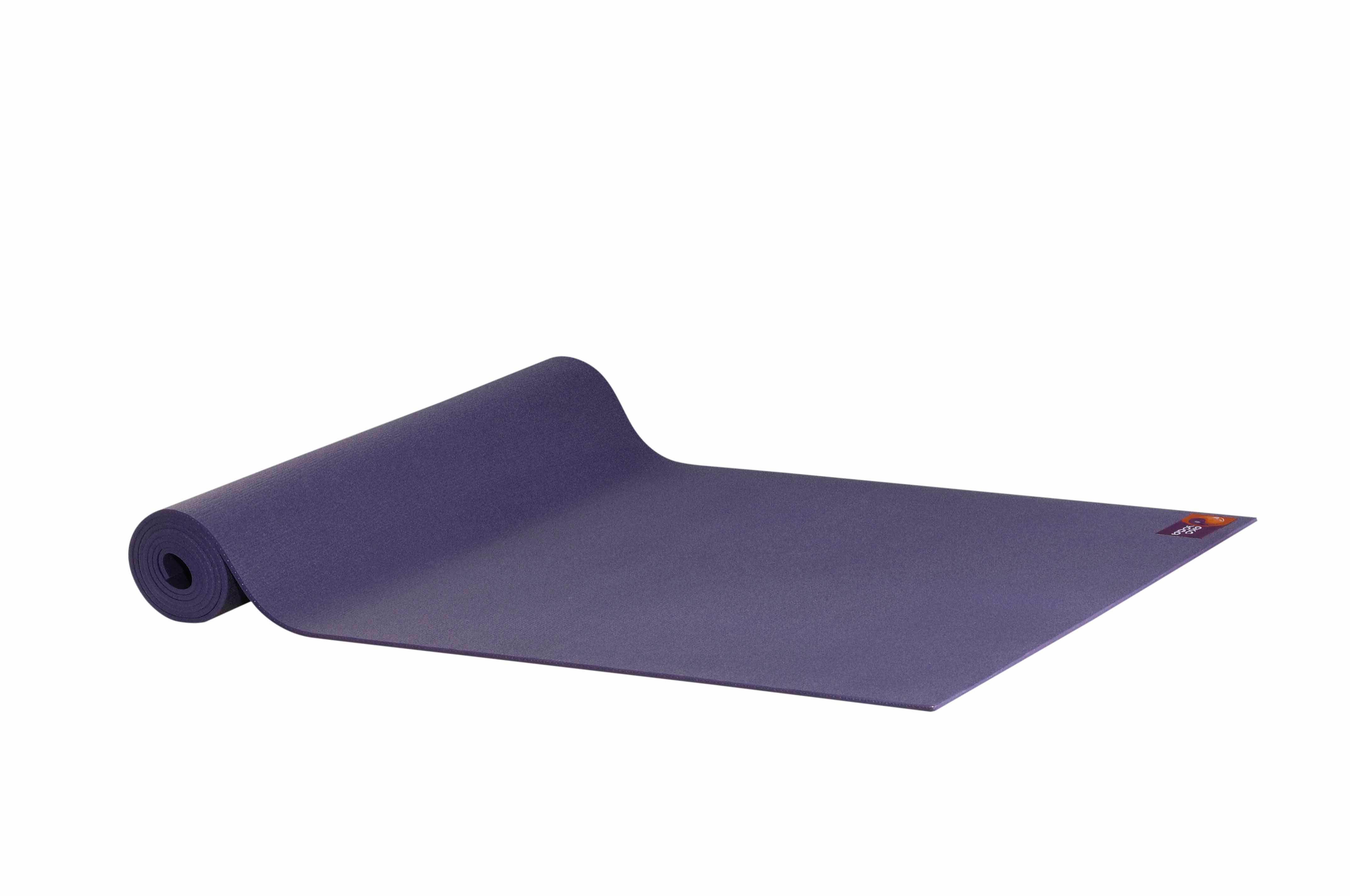 Ako Yin Yang Studio Manduka Quality Eco Yoga Mat Purple unrolled