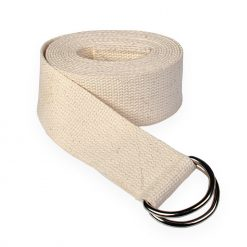 Lotuscrafts Organic Cotton Natural Yoga Belt Unbleached 8ft D Ring Clasp