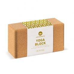 Sustainable oversized cork yoga block brick props