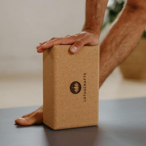 Sustainable oversized cork yoga block brick props