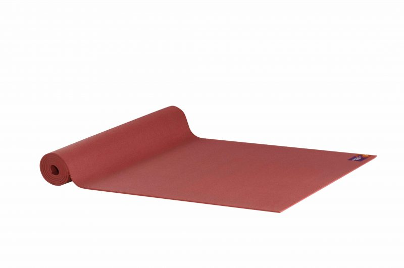 Ako Yin Yang Studio Manduka Quality Eco Yoga Mat Red unrolled