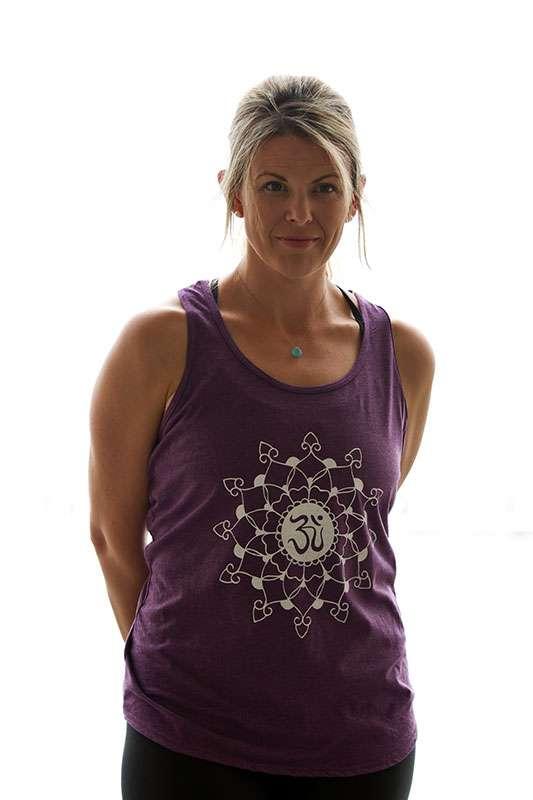 Oceanflow Yogawear Aubergine Mandala Vest Top Racerback