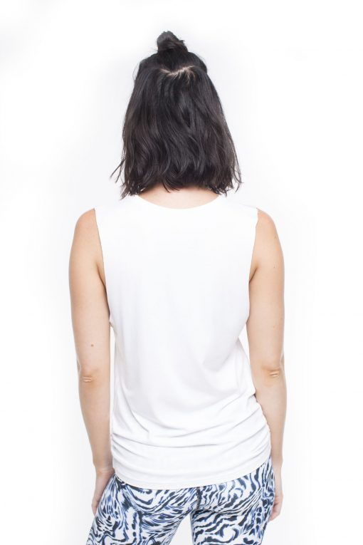 Dharmabums Relaxed Boyfriend Tee - White loose yoga top high quality