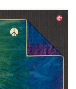 Manduka Yogitoes Peacock Skidless BIG Hot Yoga Towel Bikram