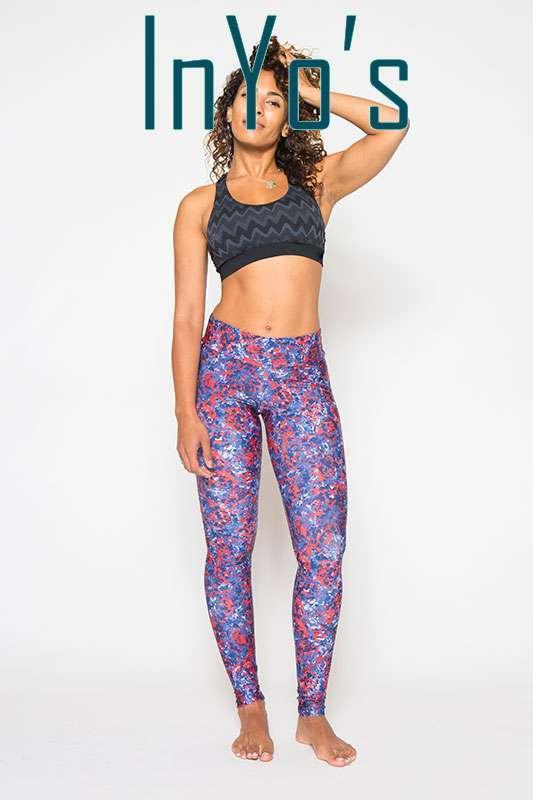 Inyo Micro Camo Yoga Leggings Full Length Patterned high quality yoga clothes uk