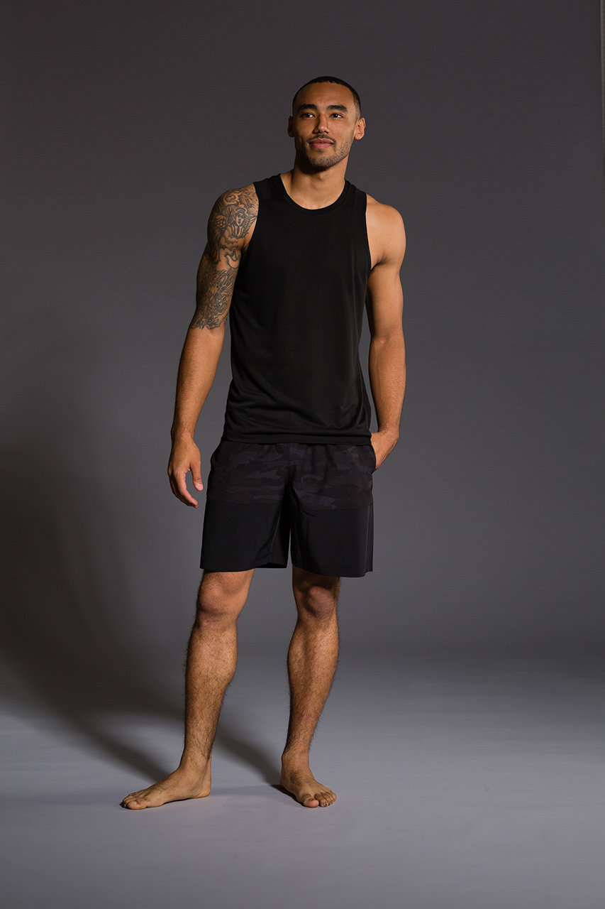 Onzie Mens Muscle Tank - Black Gym Fitness Running
