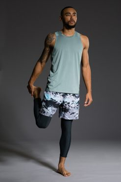 Onzie Mens Muscle Tank - Moonstone gym fitness running yoga
