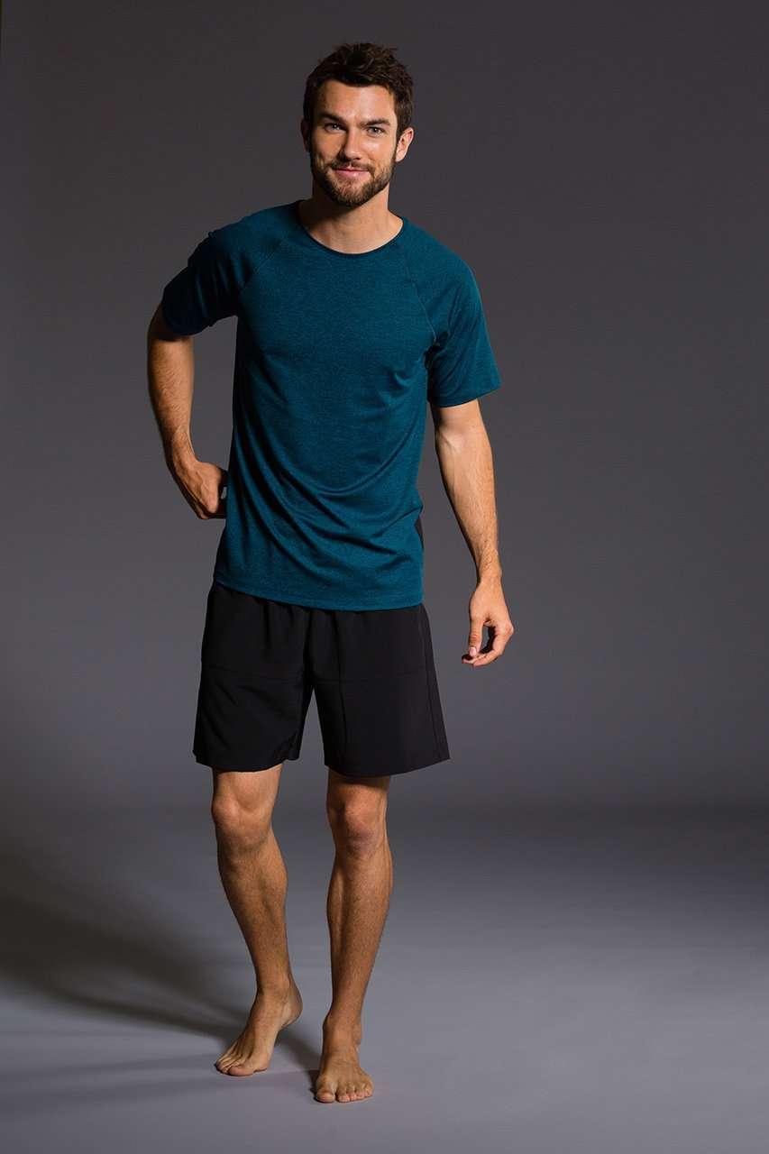 Onzie Mens Raglan Short Sleeve Tee - Fiji gym fitness running yoga