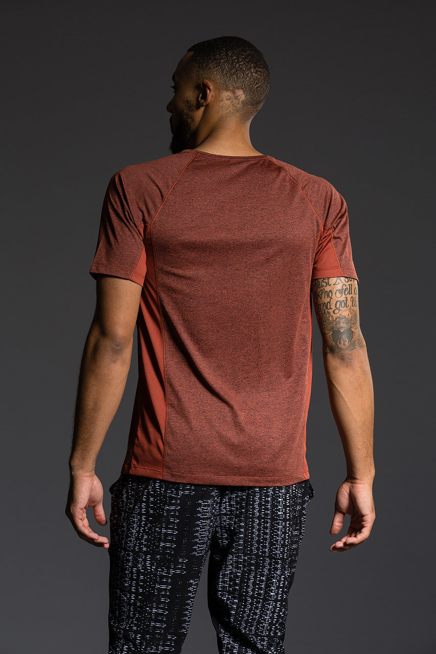 Onzie Mens Raglan Short Sleeve Tee - Mars gym fitness running yoga tshirt