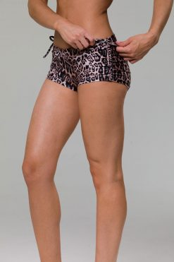 onzie side tie hot yoga shorts