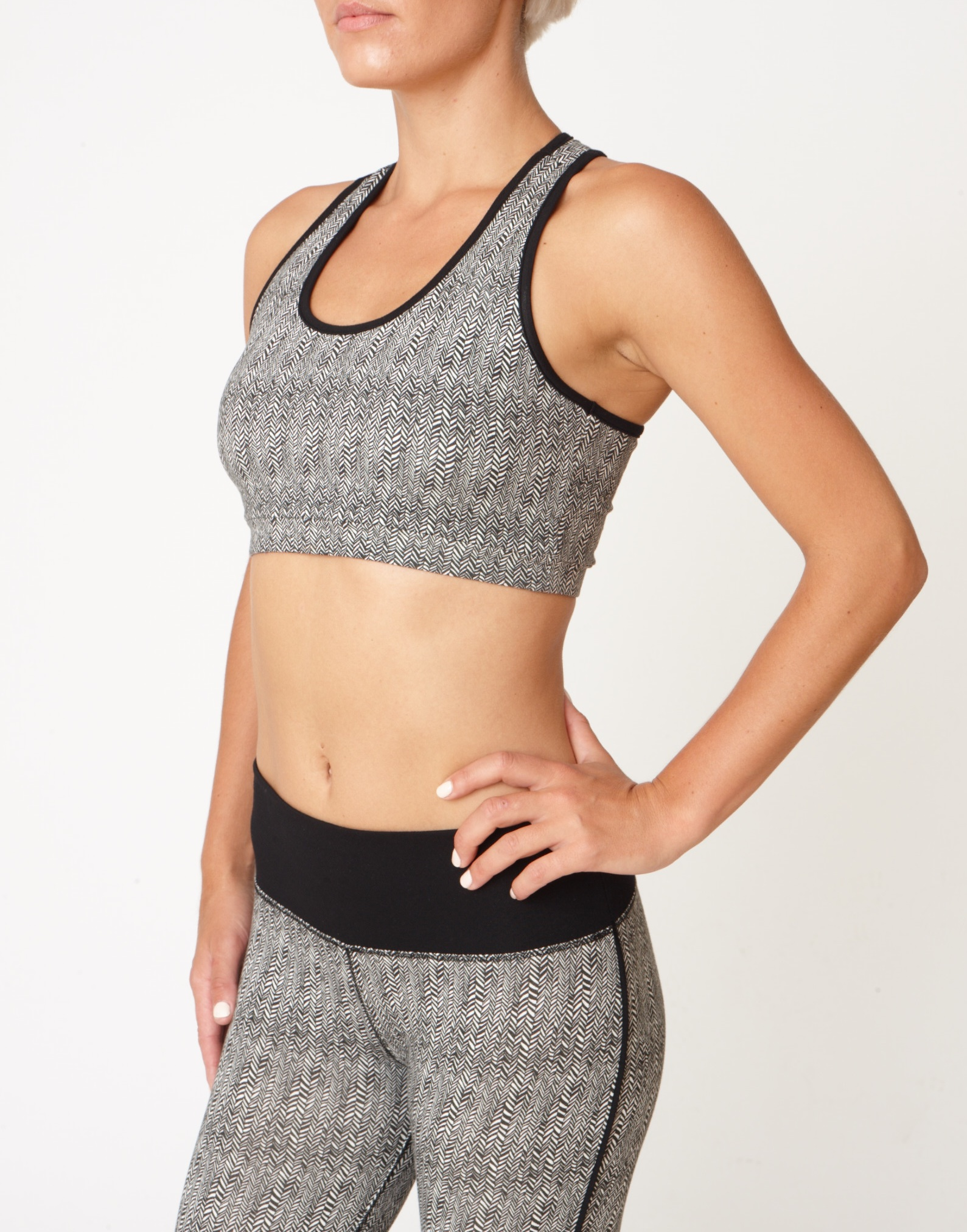 Asquith Balance Bra Yoga top herringbone