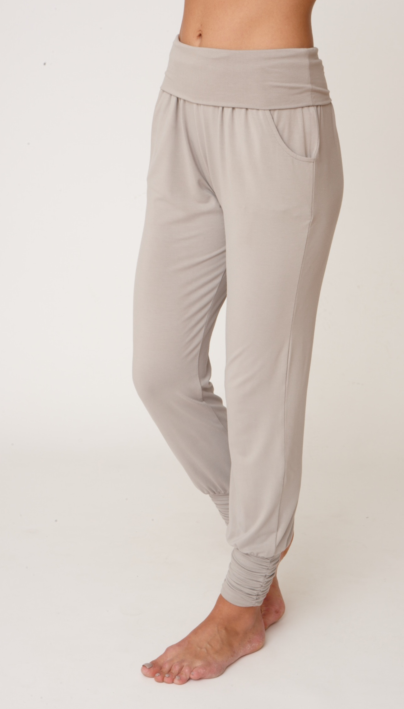 Asquith Long Harem Pants Stone