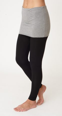 Asquith Smooth You Full Length Yoga Leggings Black with Grey Marl Waistband