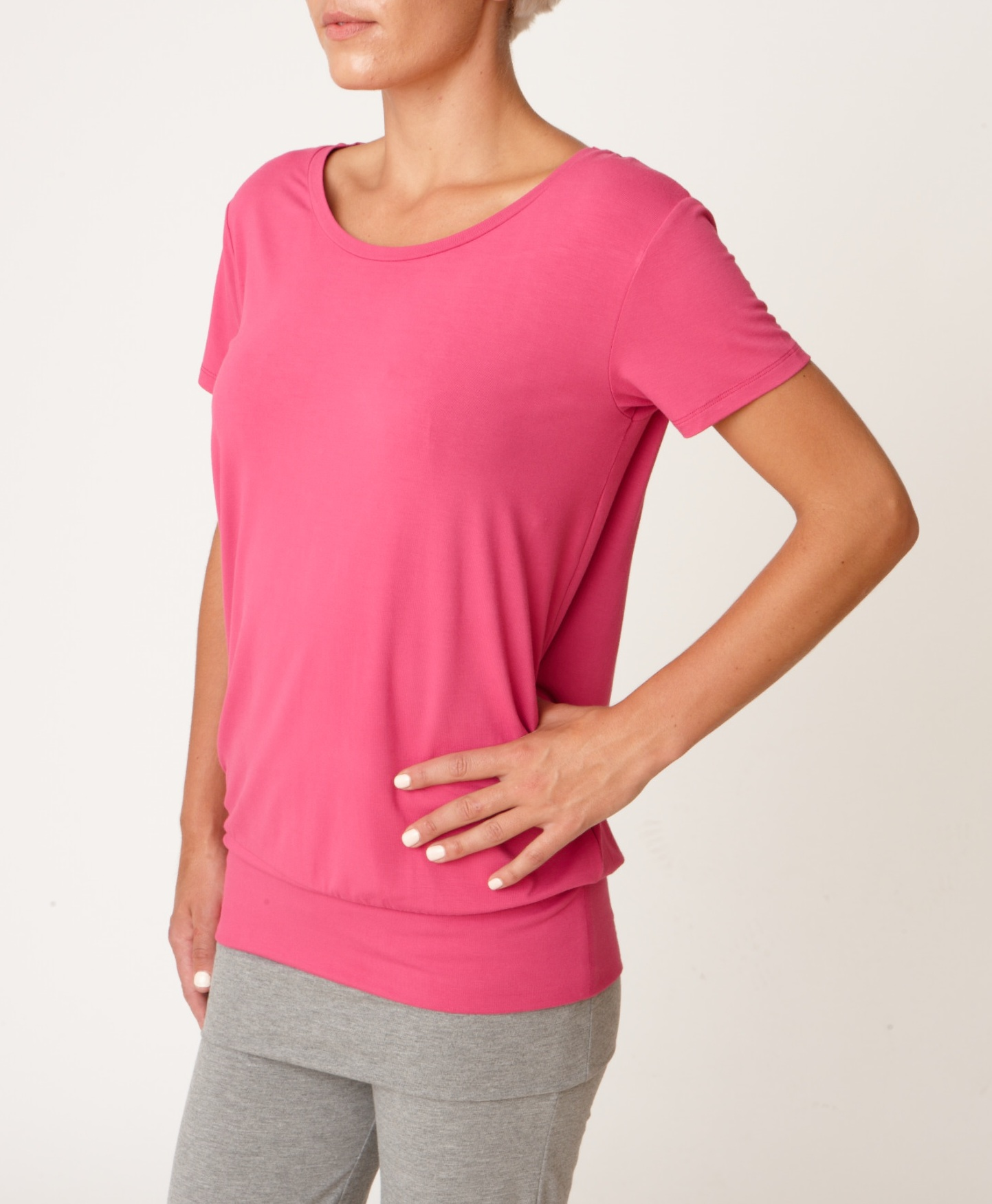 Asquith Smooth You Tee Rose Pink Yoga Vest top