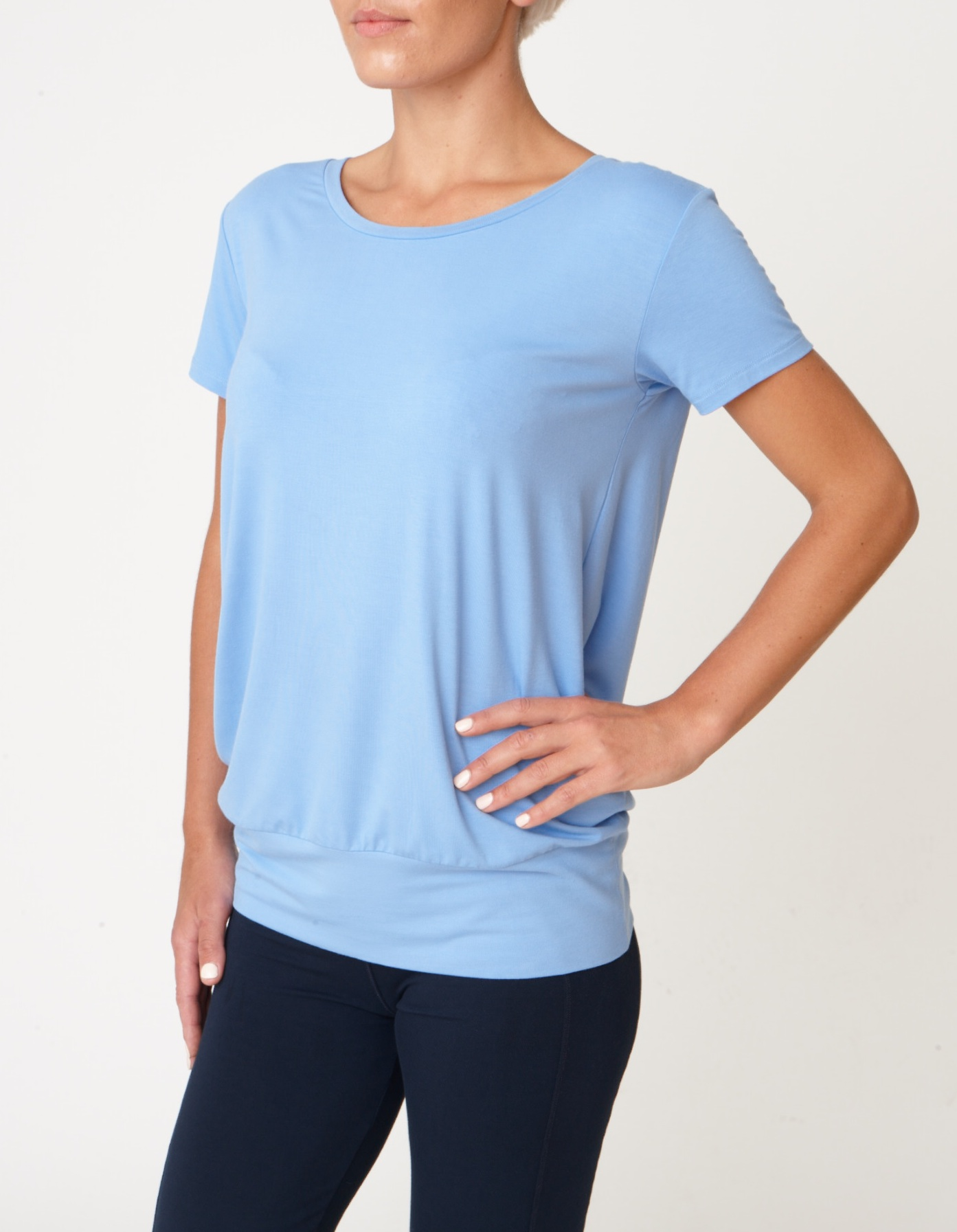 Asquith Smooth You Tee Sky Blue Yoga Vest top