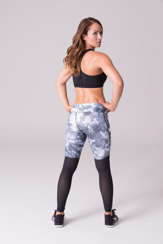 Daub Active Full Length Ava Mesh Yoga Leggings Glacier