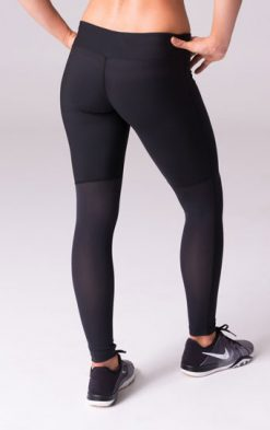 Daub Active Full Length Ava Mesh Yoga Leggings Black