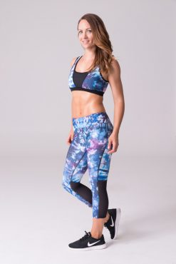 Daub Active full length Ava Mesh Yoga Leggings Orchid