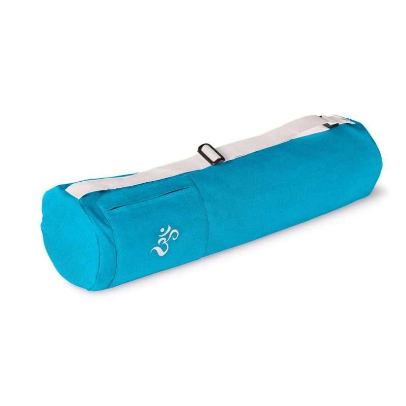 yoga bag turquoise blue