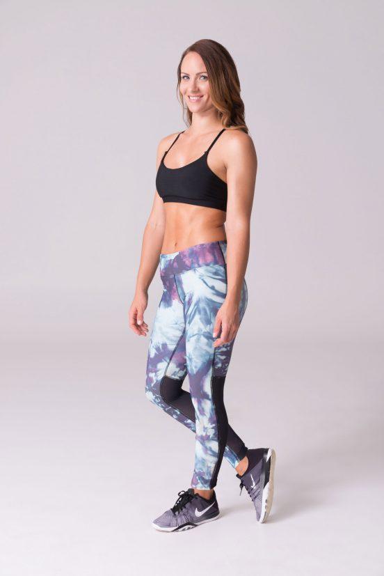 daub Active yoga leggings ava mesh glacier sea foam