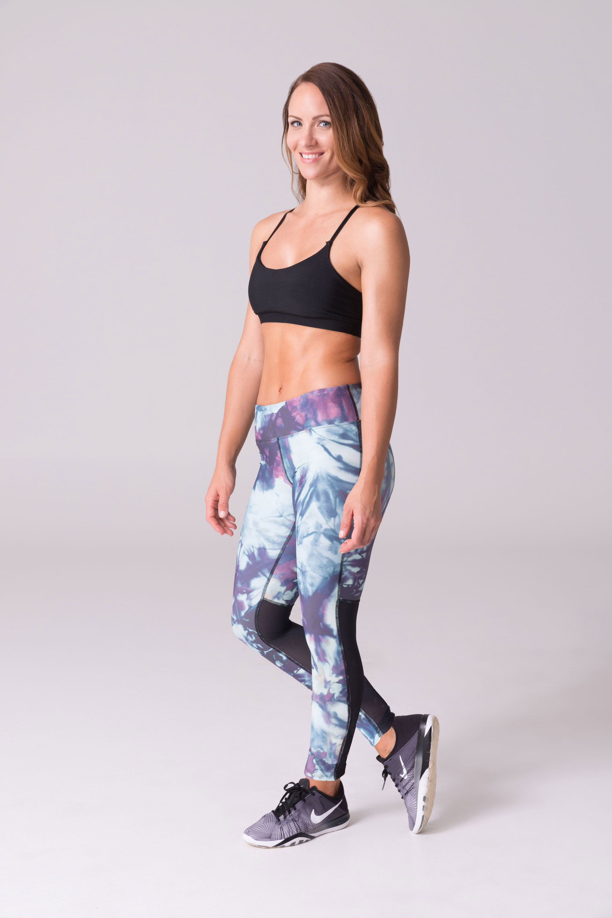 daub Active yoga leggings ava mesh glacier sea foam