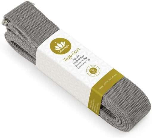 Lotuscrafts Organic yoga strap anthracite grey black