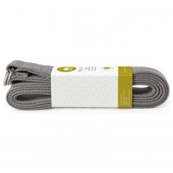 Lotuscrafts Organic yoga strap anthracite grey black