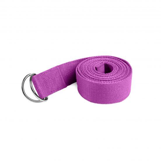 Lotuscrafts organic yoga strap purple