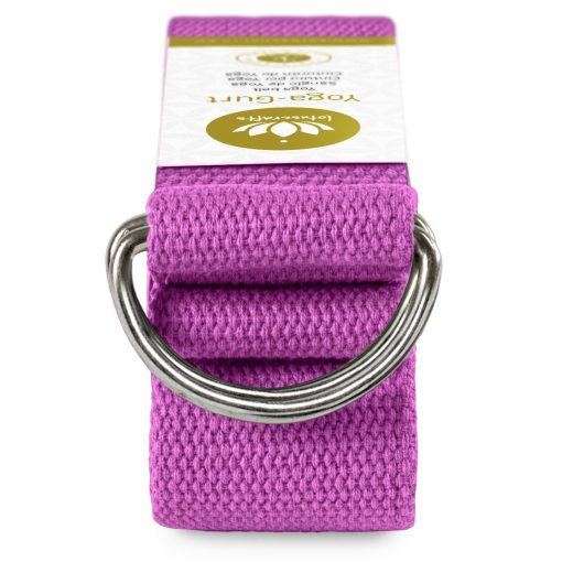 Lotuscrafts Organic yoga strap violet purple