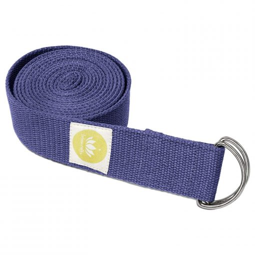 Lotuscrafts Organic yoga strap royal blue