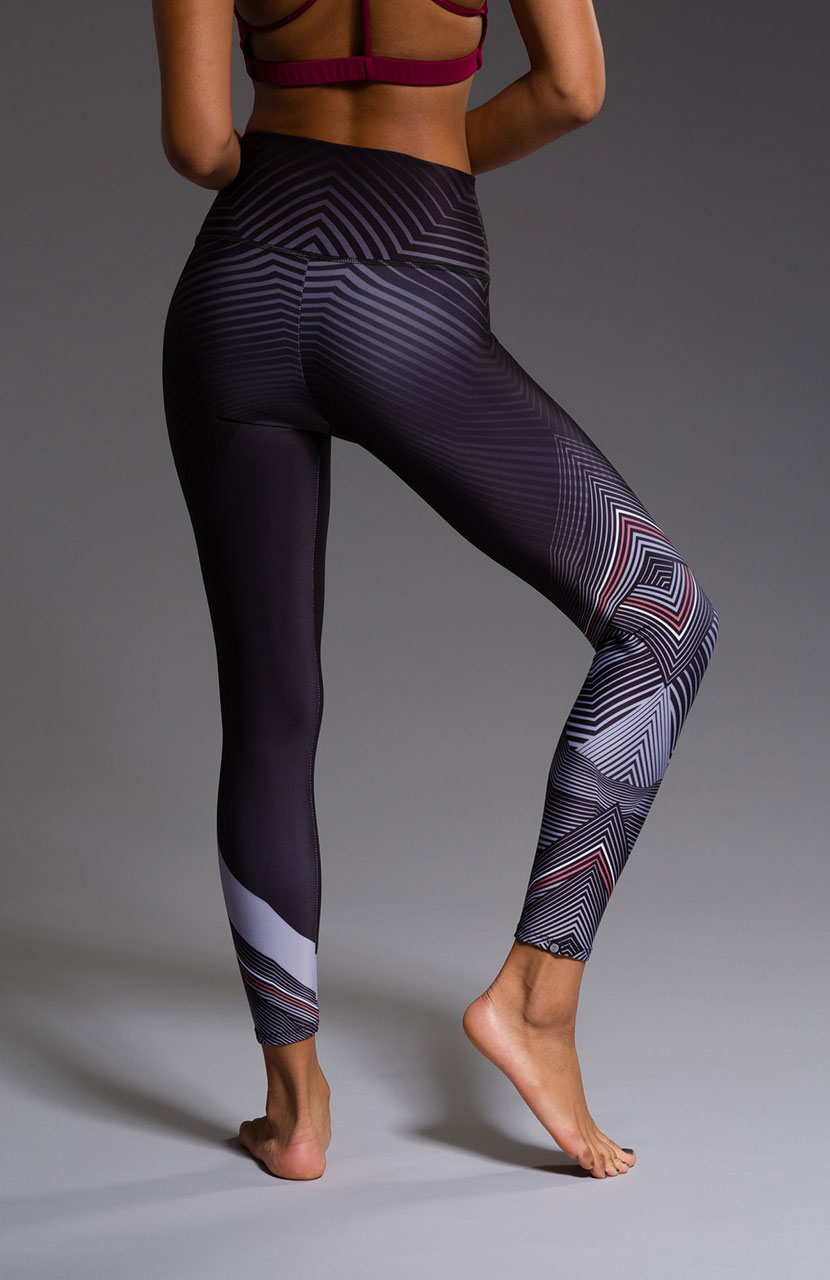 Onzie High Rise graphic yoga leggings black moon