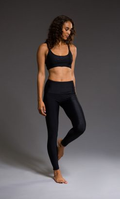 onzie black geo bra yoga top