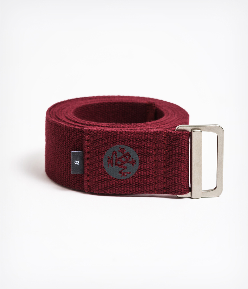 manduka align yoga strap belt 8ft red verve