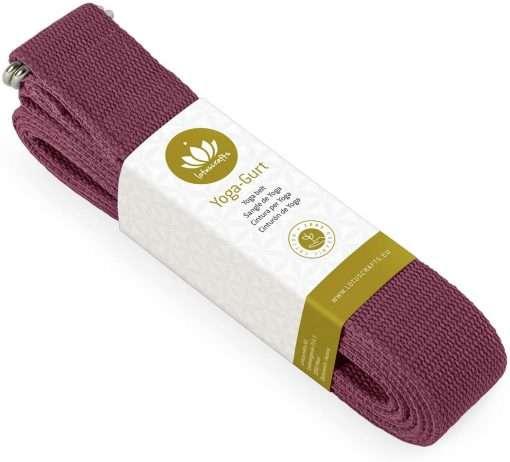 Lotuscrafts Organic yoga strap Aubergine
