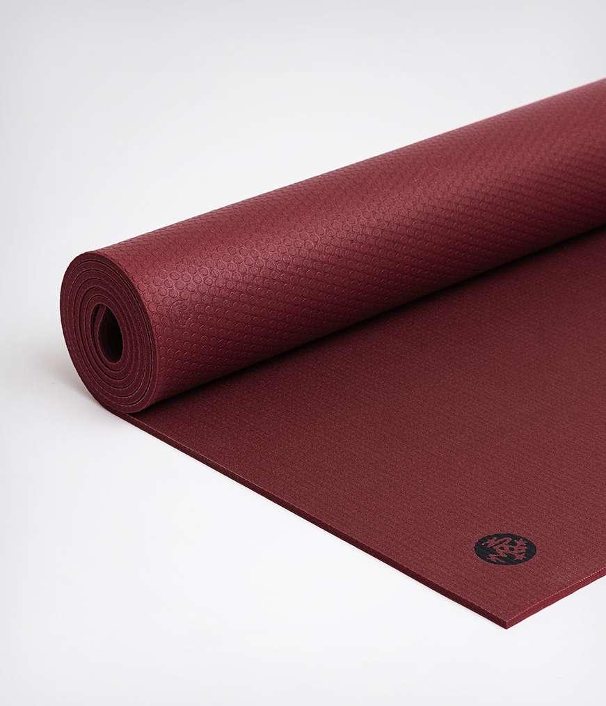 Manduka Pro black verve yoga mat red