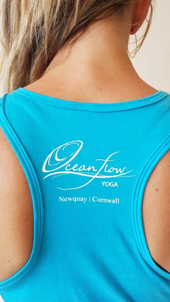 oceanflow racerback yoga top turquoise ganesh
