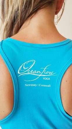 oceanflow racerback yoga top turquoise hamsa