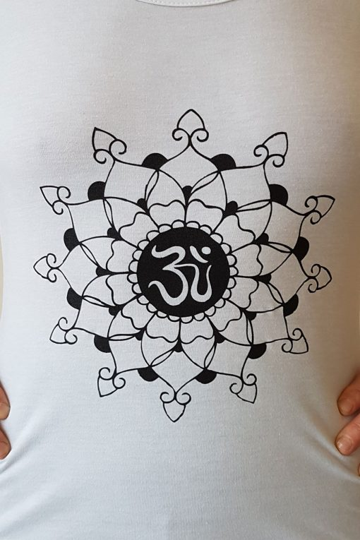 Oceanflow Yogawear Yoga Vest Top white mandala