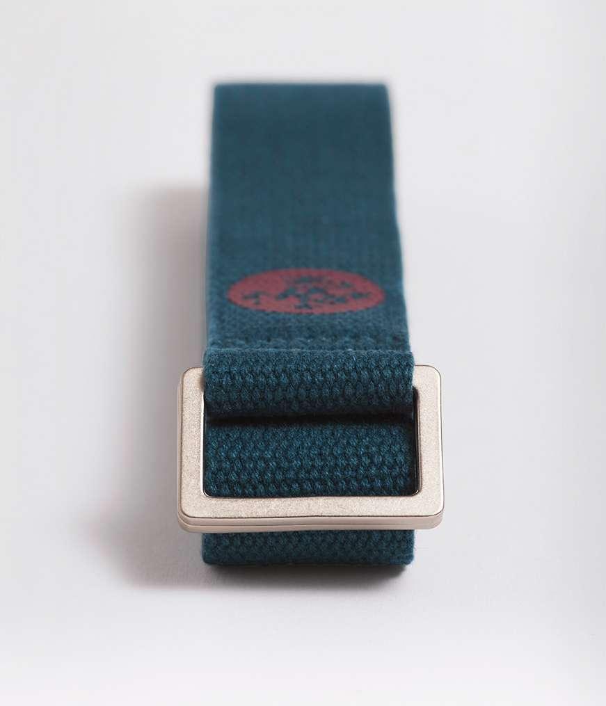 Manduka unfold 6ft sturdy yoga strap belt blue