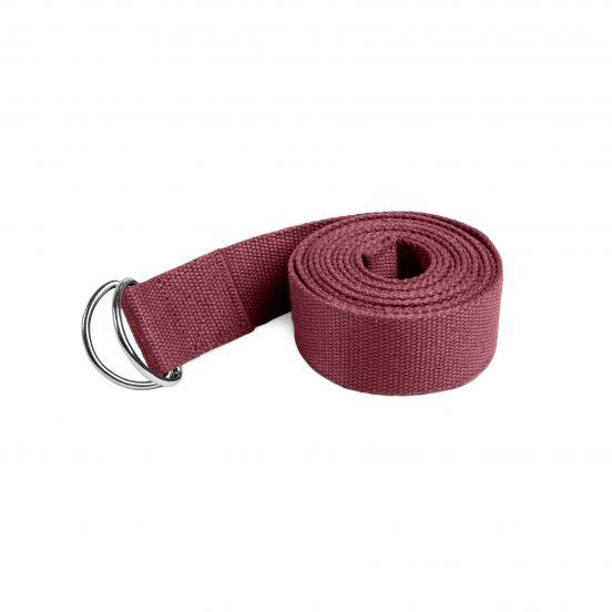 Lotuscrafts yoga strap belt bordeaux red