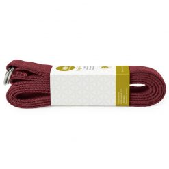 Lotuscrafts Organic yoga strap Bordeaux red