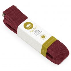 lotuscrafts organic yoga strap red