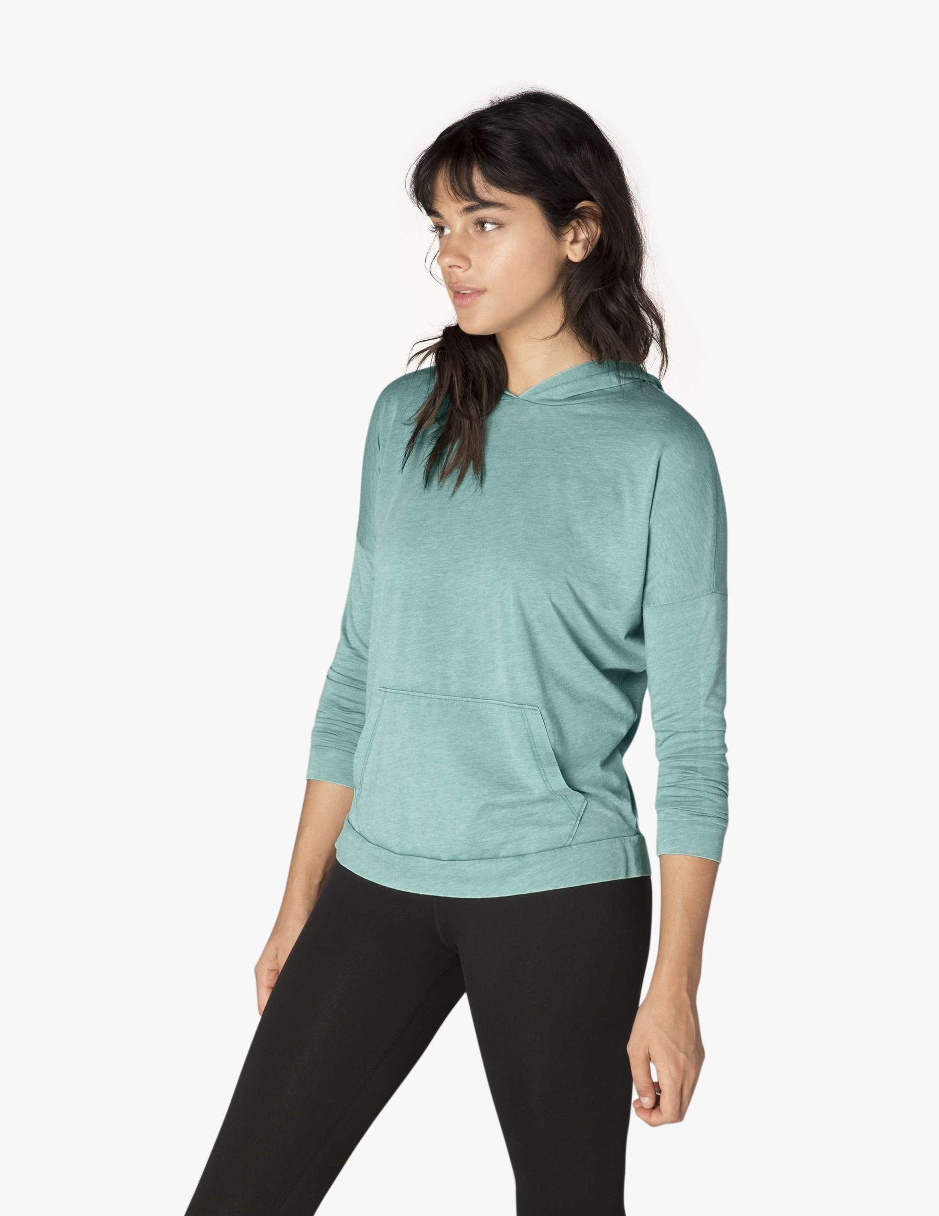 Beyond yoga daybreaker hoodie - brushed jade