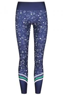 dharma bums starry night yoga leggings high wast 7/8 length